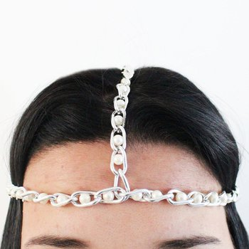Headband Dara Pérola Prata