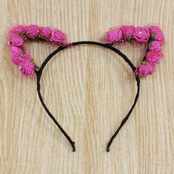 Tiara Orelhinha de Flor Majesty Pink
