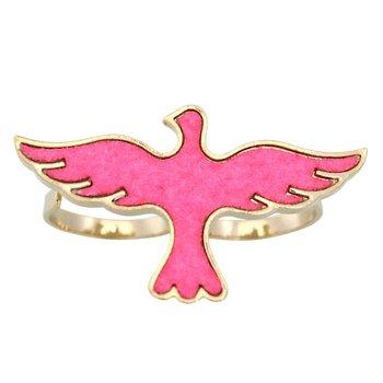 Anel Duplo Bird Rosa *