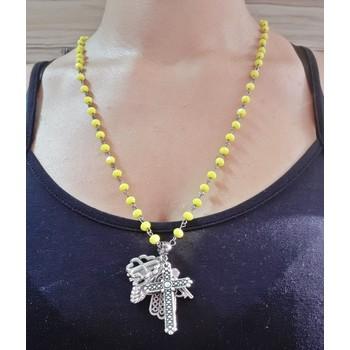 Colar Amuletos Amarelo