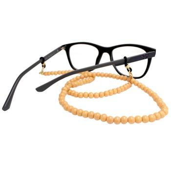 Cordão para Óculos Bolinhas Acrílico Bege