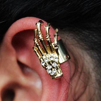 Brinco Ear Cuff Garra Dourado