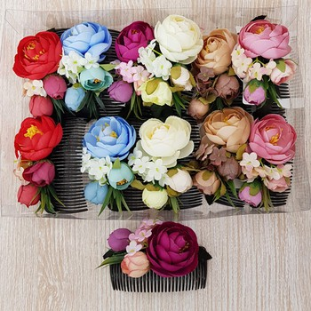 Dúzia De Acessórios De Cabelo Flores