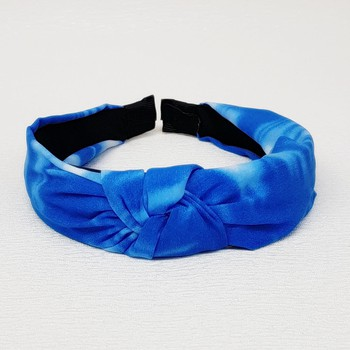 Tiara De Nó Mesclada Azul Escuro