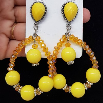Brinco Esferas Amarelo