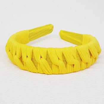 Tiara Macramê Amarelo Sol