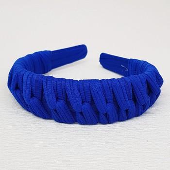 Tiara Macramê Azul Escuro