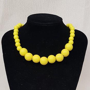 Colar Esferas Amarelo