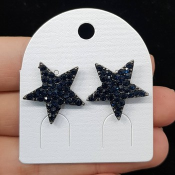 Brinco Estrela Grafite Azul Marinho