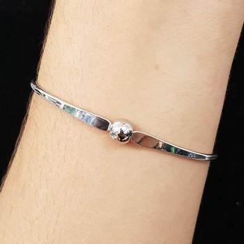 Bracelete Esfera Prata