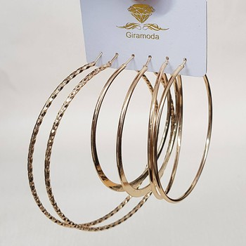 Kit De Argolas Dourada