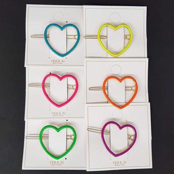 Dúzia De Grampos Esmaltados Coração