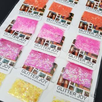 Cartela Com 12 Sachês De Glitter Joy Floquinhos Pa...