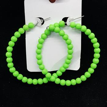 Argola Esferas Verde