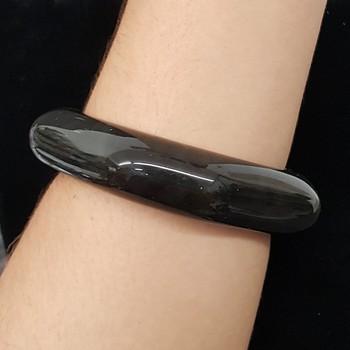 Bracelete Acrílico Mesclado Preto