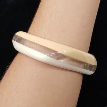 Bracelete Acrílico Mesclado Branco