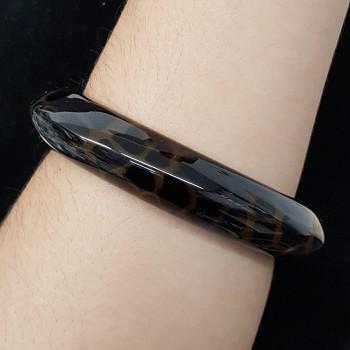 Bracelete Acrílico Mesclado Animal Print