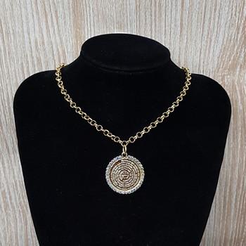 Colar Folheado Dourado Mandala