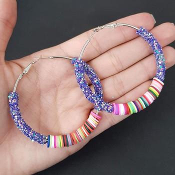 Argola Detalhada Violeta Colorido