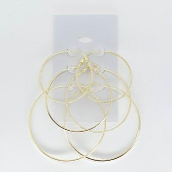 Kit De Argolas Douradas Texturizadas