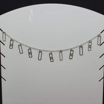 Colar Folheado Prata Retângulos