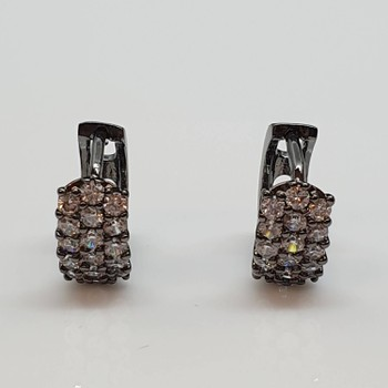 Mini Argola Semi Joia Ródio Negro