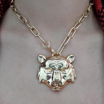 Colar Folheado Elos Tigre Dourado