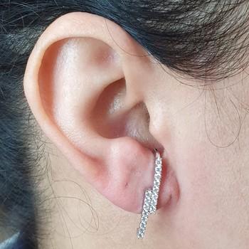 Brinco Ear Hook Semi Joia Isabela Ródio