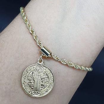 Pulseira Medalha Dourada