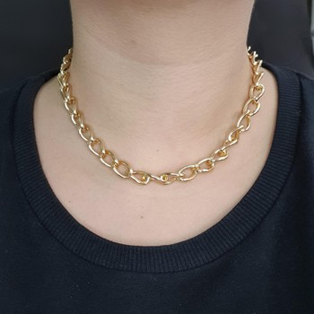 Colar Elos Dourado