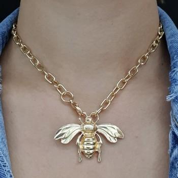 Colar Elos Dourado Abelha
