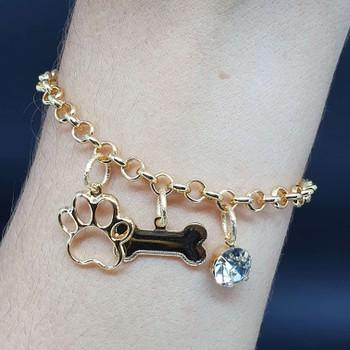 Pulseira Folheada Dourada Dog