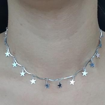 Colar Estrela Azul