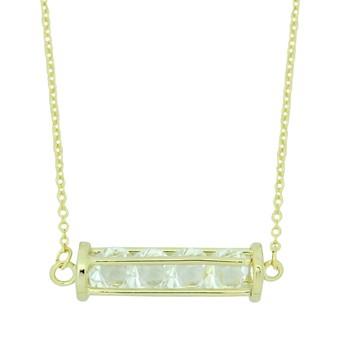 Colar Cristal Lily Dourado