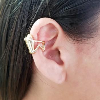 Brinco Ear Cuff Sapinho Dourado