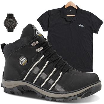 coturno tiger preta + camisa preta + relógio de brinde - Adaption