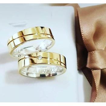 Aliança de Ouro com Prata O PAR