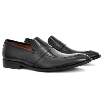 sapato social masculino loafer de couro preto