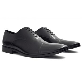 Sapato Social Oxford Stan Preto Solado Borracha - Barão Alpha