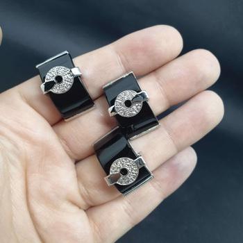 Kit Com 3 Anéis Prata Preto