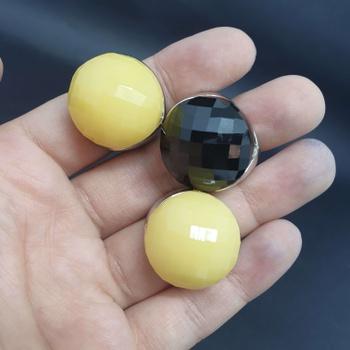 Kit Com 3 Anéis Prata Amarelo e Preto