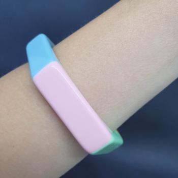 Bracelete Acrílico Mesclado Colorido