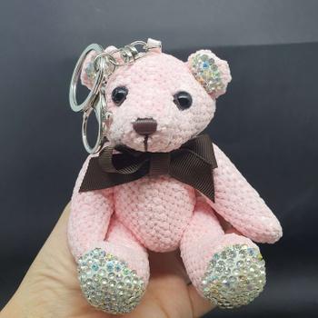 Chaveiro Ursinho De Pelúcia Rosa