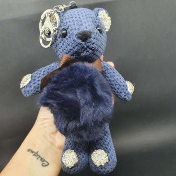 Chaveiro Ursinho De Pelúcia Azul