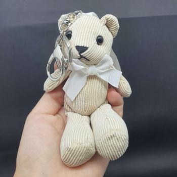 Chaveiro Ursinho De Pelúcia Branco