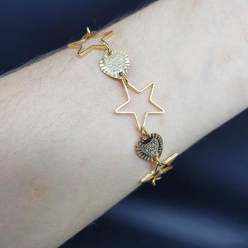 Pulseira Folheada Dourada Estrela