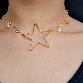 Colar Folheado Dourado Estrela