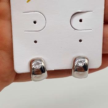 Mini Argola Folheada Prata