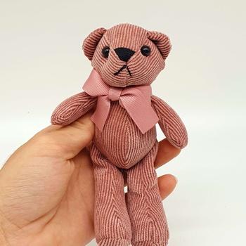 Chaveiro Ursinho De Pelúcia Rosa Escuro