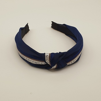 Tiara Frase Azul Marinho